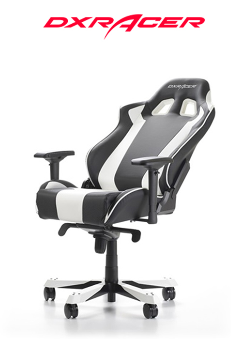 DXRACER CHAIR KING BLACK/WHITE