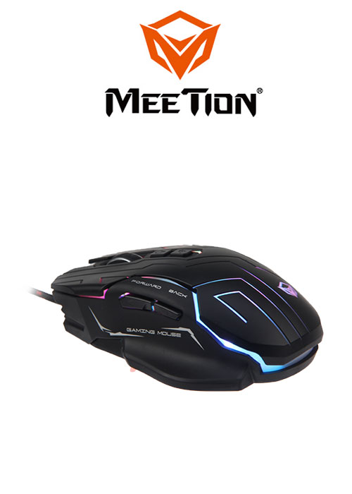 GM22 Dazzling Gaming Mouse- Black (Meetion)