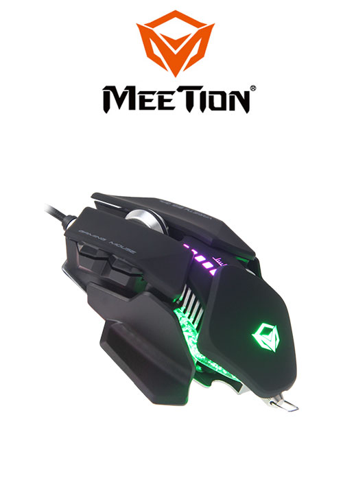 GM80 Transformers Gaming Mouse- Black (Meetion)