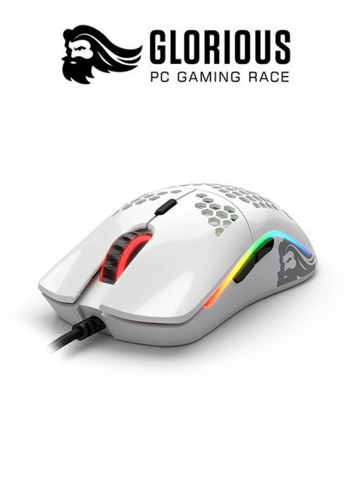 Model O- RGB Gaming Mouse - Glossy White (Glorious)