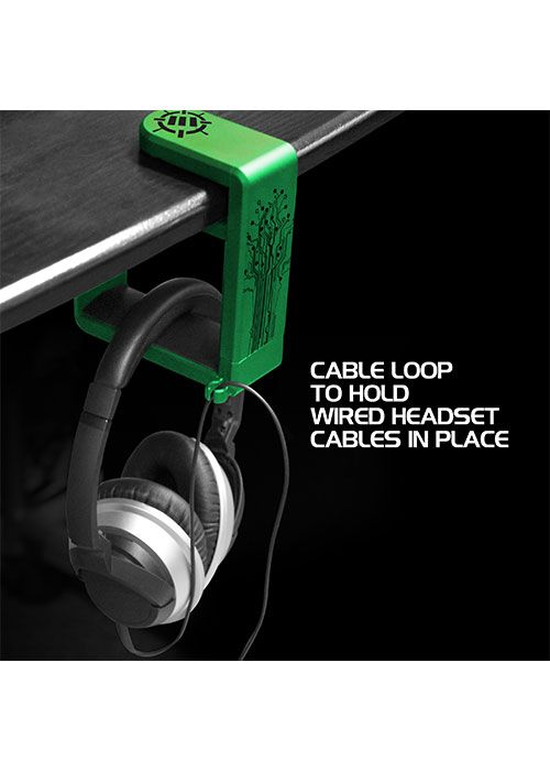 Rotating Headphone Mount - Green (ENHANCE)