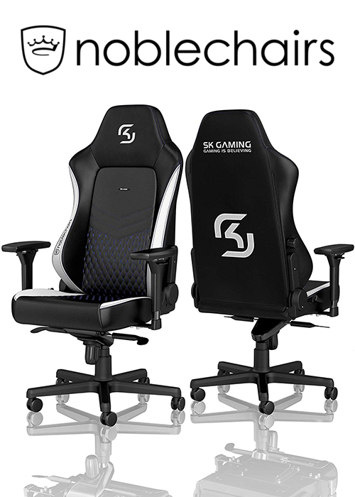 Noblechairs HERO Gaming Chair - SK Gaming Edition, Black/White/Blue