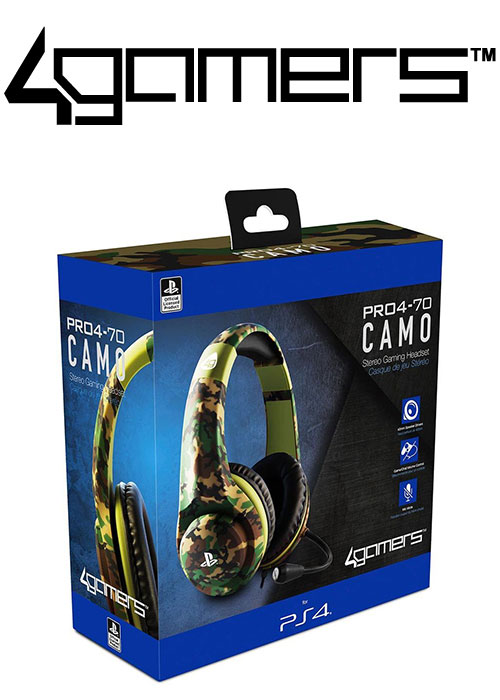 PS4 PRO4-70 Wired Stereo Gaming Headset - Camo Green (4Gamers)