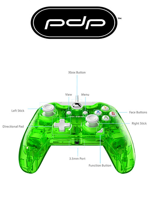 XB1 Wired Controller Rock Candy Green (PDP)