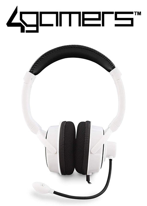 PS4 PRO4-40 Wired Stereo Gaming Headset - White (4Gamers)