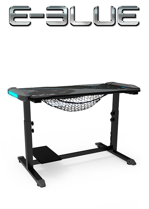 E-Blue EGT574 HEIGHT-ADJUSTABLE & GLOWING GAMING DESK