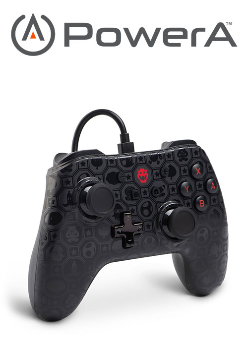 NS PowerA Wired Switch Controller - Shadow Bowser