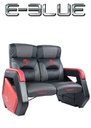 Auroza Gaming Double Sofa EEC335 with Movable Scroll Casters