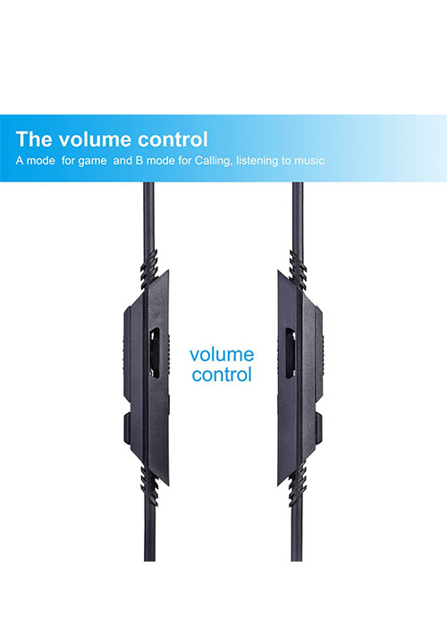 Headset Aux Volume Control Cable
