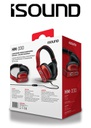 ISOUND HM-330 WIRED HEADPHONES - RED