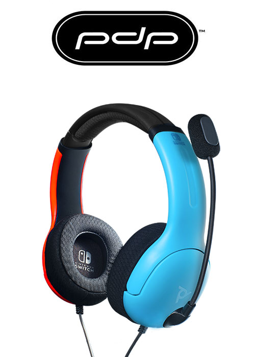 PDP NS LVL40 Wired Stereo Headset - Blue/Red