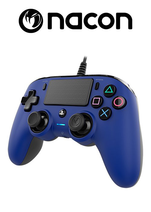Nacon PS4 Wired Compact  Controller Blue
