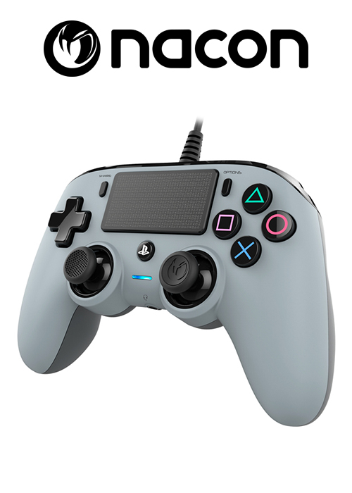 Nacon PS4 Wired Compact Controller Grey