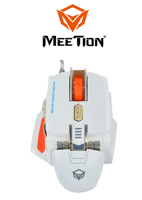 Meetion M975 Macro Gaming Mouse- White