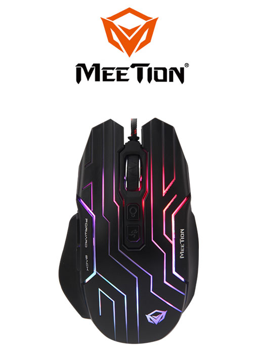 Meetion GM22 Dazzling Gaming Mouse- Black