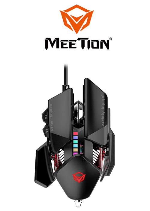Meetion GM80 Transformers Gaming Mouse- Black