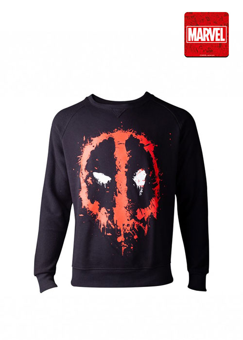 Deadpool - Dripping Face Men's Sweater - Black - L