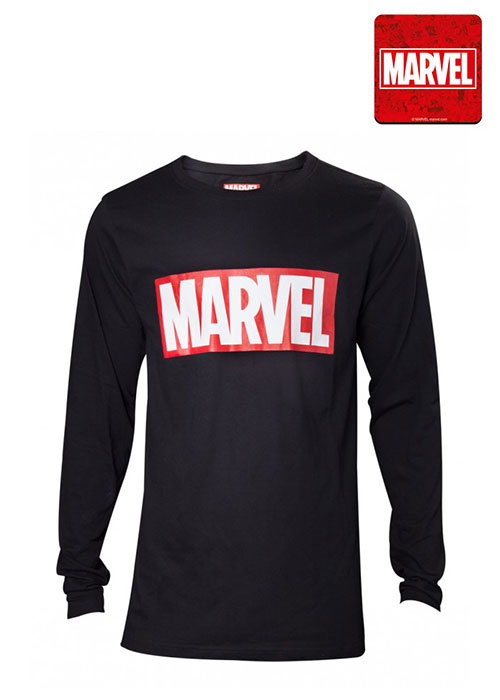 Marvel - Marvel Logo Black Men's Longsleeve - 2XL