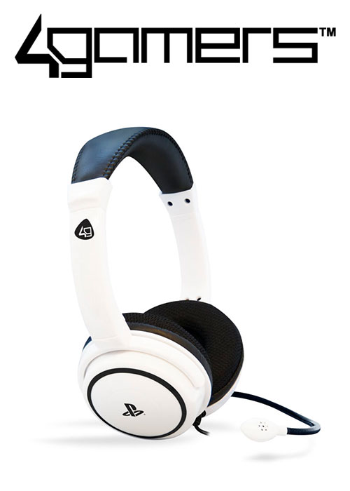 4Gamers PS4 PRO4-40 Wired Stereo Gaming Headset - White