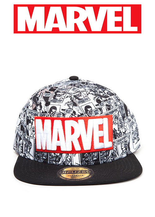 Marvel - Classic Red and White Logo Snapback Cap