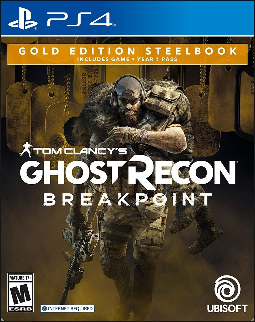 PS4 Ghost Recon Breakpoint Gold Edition SteelBook R1
