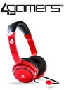 4Gamers PS4 PRO4-40 Wired Stereo Gaming Headset - Red