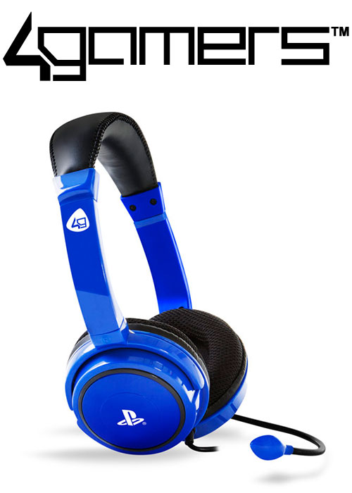 4Gamers PS4 PRO4-40 Wired Stereo Gaming Headset - Blue