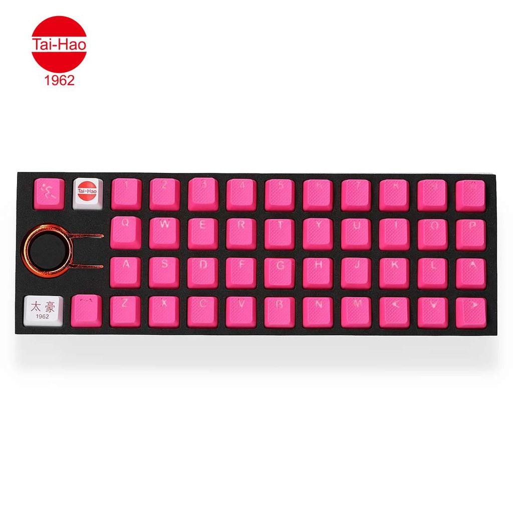 Tai-Hao 42-Keys TPR Backlit Double Shot Rubber-Keycap Set - Neon Pink