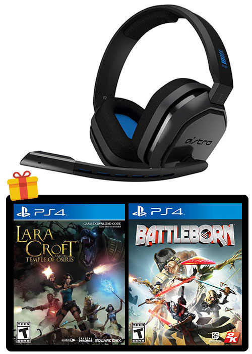 ASTRO PS4 A10 Gaming Headset Black/Blue + 2 Games
