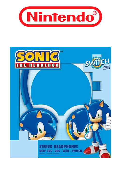 NS Sonic the Hedgehog Stereo headphones
