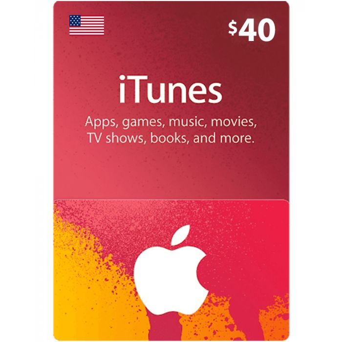 iTunes gift card 40$ US Account [Digital Code]