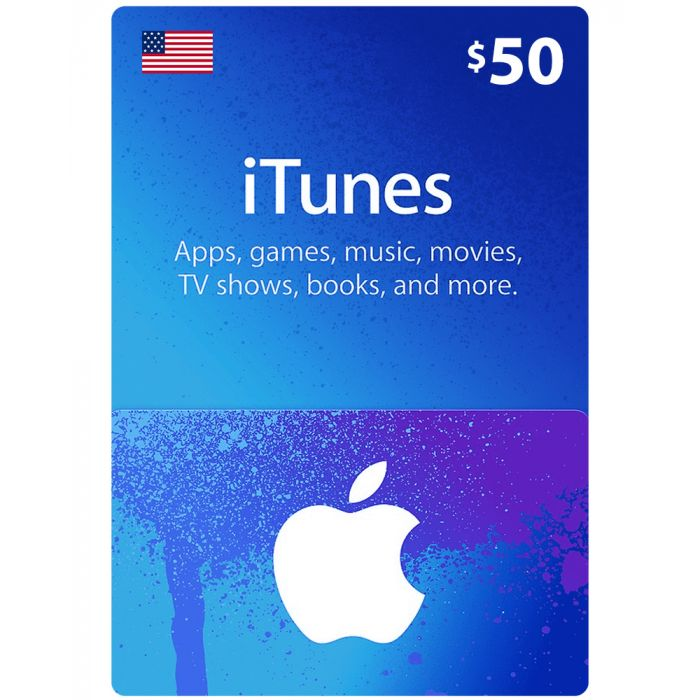 iTunes gift card 50$ US Account [Digital Code]