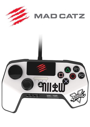 [183302] PS4 Controller Fightpad Pro Street Fighter White (Mad Catz)