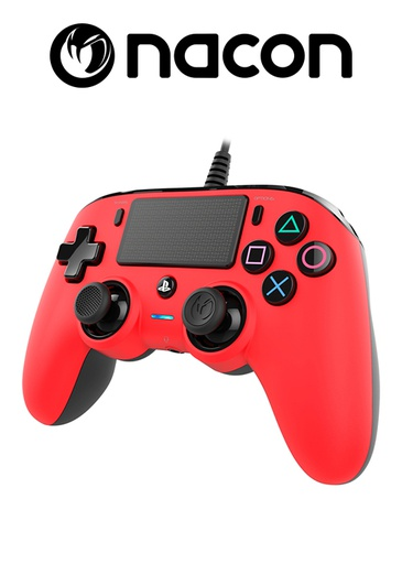 [203615] Nacon PS4 Wired Compact Controller Red