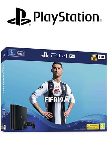 [S203843] PS4 1TB With FIFA 19 Arabic