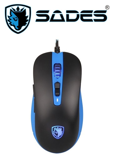 [204218] SADES Musket Gaming Mouse - Blue