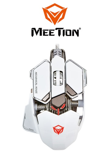 [224343] Meetion M990 Mechanical Gaming Mouse- White