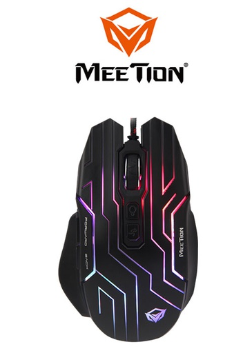 [224347] Meetion GM22 Dazzling Gaming Mouse- Black