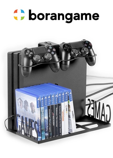 [324491] Wall Mount With Pad And Game Cases Holder PS4 & Xbox - Eagle Grab (Borangame)