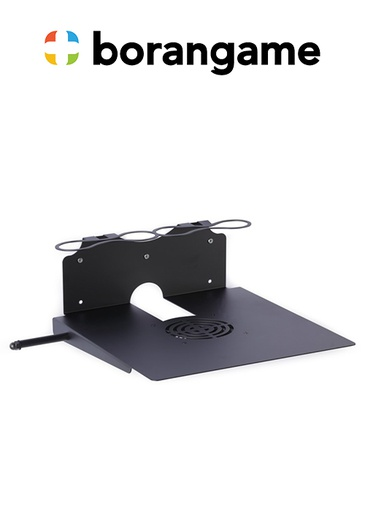 [324493] PS4 & Xbox Wall Mount 2 Controller Holders & Headphone - Black (Borangame)