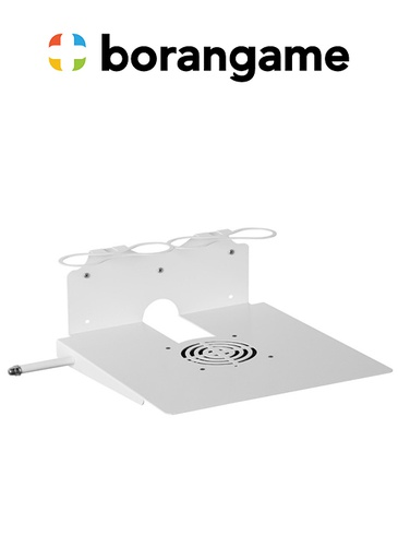 [324494] PS4 & Xbox Wall Mount 2 Controller Holders & Headphone - White (Borangame)