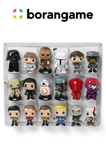 [324498] Shelf Display For 18 Funko Action Figures (Borangame)
