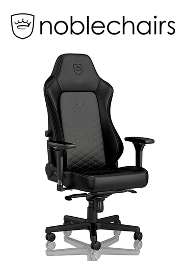 [434519] Noblechairs HERO Gaming Chair - Black/Gold