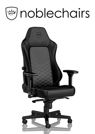 [434520] Noblechairs HERO Gaming Chair - Black/Platinum White