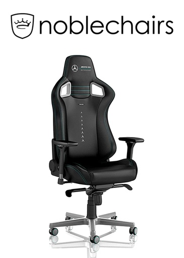 [434522] Noblechairs EPIC Gaming Chair - Mercedes-AMG Petronas Motorsport Edition