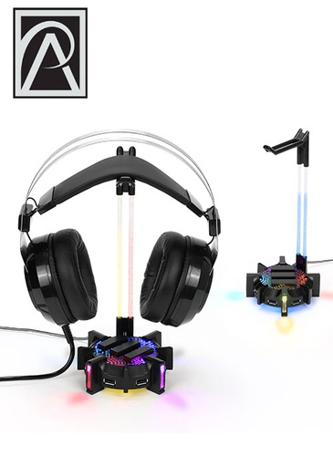 [534576] ENHANCE Headset Stand and Gaming Hub