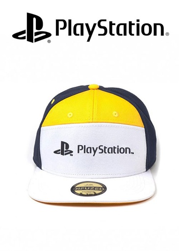 [544667] PlayStation - 7 Panels Snapback Cap