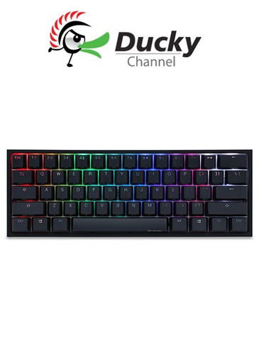 [514554] Ducky One 2 Mini RGB Gaming Keyboard - Silent Red Switch