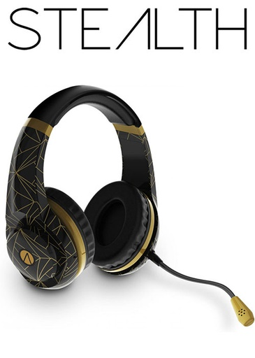 [654737] STEALTH Classic Gold Wired Gaming Headset