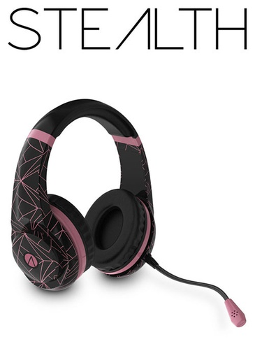 [654738] STEALTH Abstract Stereo Gaming Headset Rose Gold Edition - Black